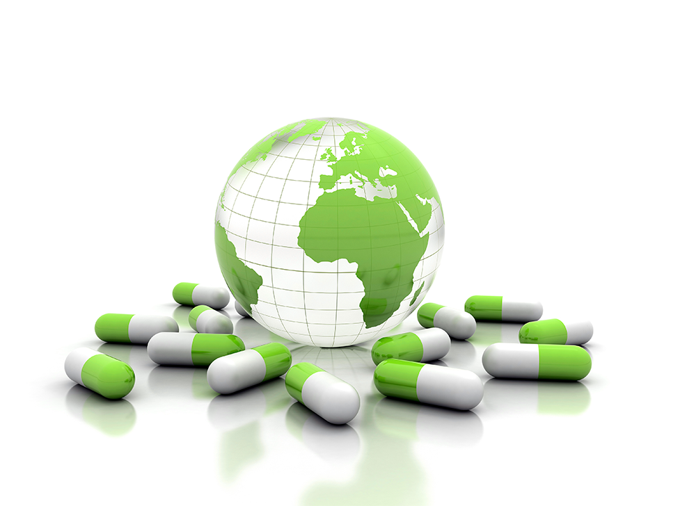 Pharmaceuticals focus on global health.